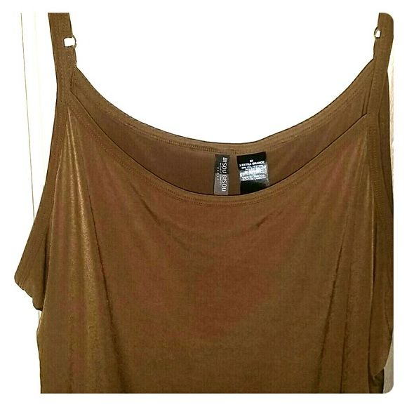 BISOU BISOU BROWN CANISOM5 This camisole has adjustable straps. It's a nice thick material super soft and silky...never been worn Bisou Bisou Tops Camisoles