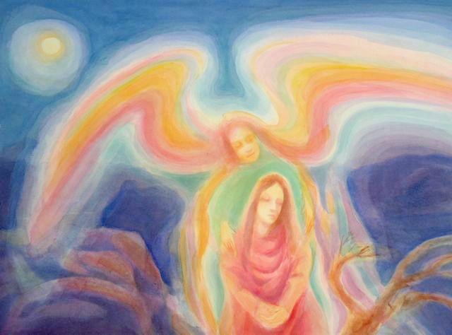 Guardian Angel by Dennis Klocek | Angel art, Paintings i love, Painting