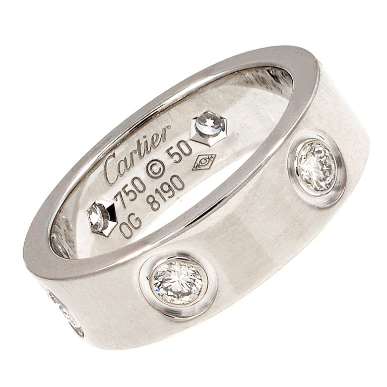 CARTIER White gold and Diamond Love Ring