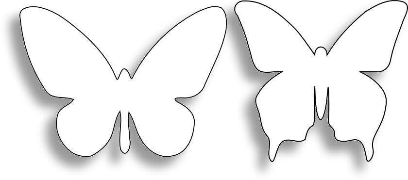 Шаблон бабочки для открытки