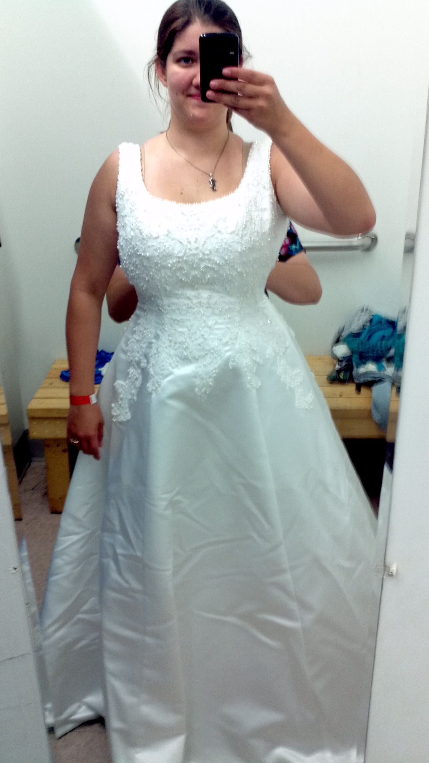 My dress!!!! $50 at Goodwill!! Find yours! http://mokangoodwill.org ...