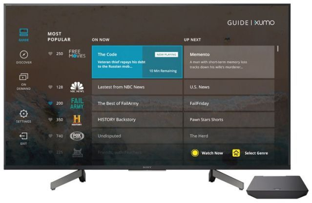 Xumo Launches on Comcast Xfinity SetTops, Android TV