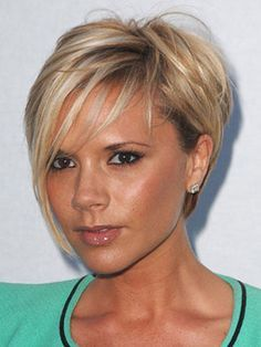 victoria beckham pixie cut blonde