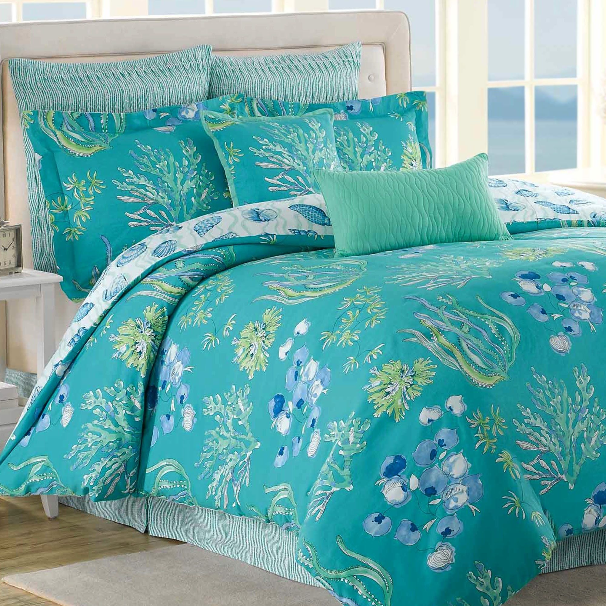 comforter kids themed farmhouse design house sets bedroom headboard ideas twin beach comforters tropical designs bedding good sea
