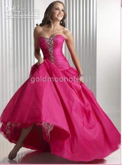 hot pink wedding dress :) | wedding love | Pinterest | Hot pink ...
