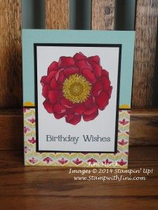 Birthday Wishes using the Blended Bloom and Flashback Designer Series Paper