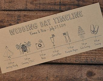 Wedding Day Timeline/Schedule ~ PDF