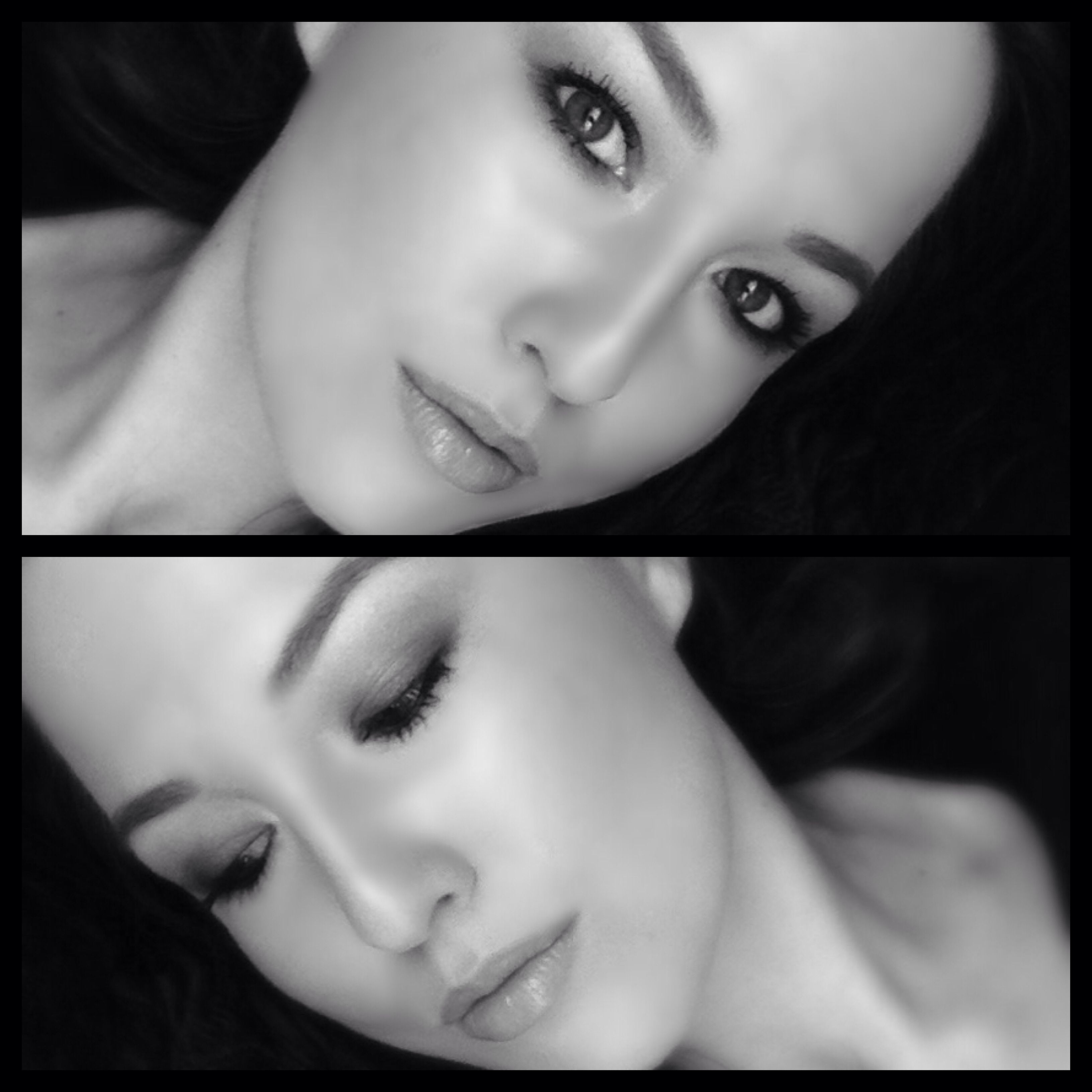 B&W pic of my makeup look today... makeup b&w