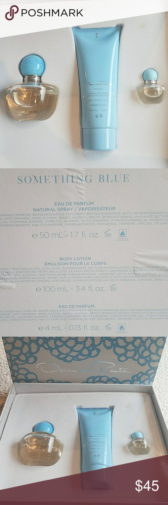 Oscar De La Renta Something Blue Set New In Box Never Used Pet And Smoke Free Home Oscar De La Renta Ot Something Blue Oscar De La Renta Things To Sell