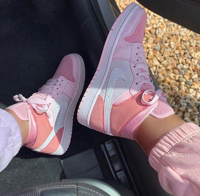 Air Jordan 1 Mid Digital Pink Cw5379 600 In 2020 Jordan Shoes