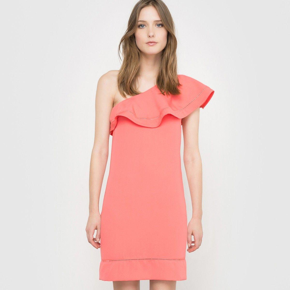 Vestido de noche rojo coral Mademoiselle R | La Redoute | PV17 ...