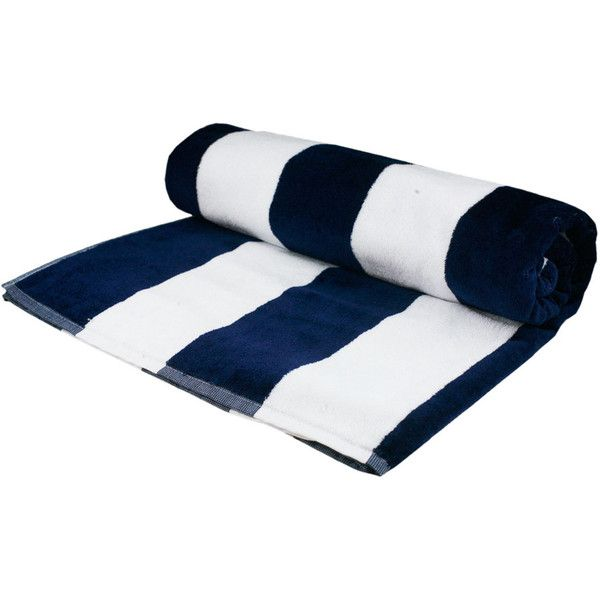 Nautical Navy And White Striped Eygptian Cotton Beach Towel 34