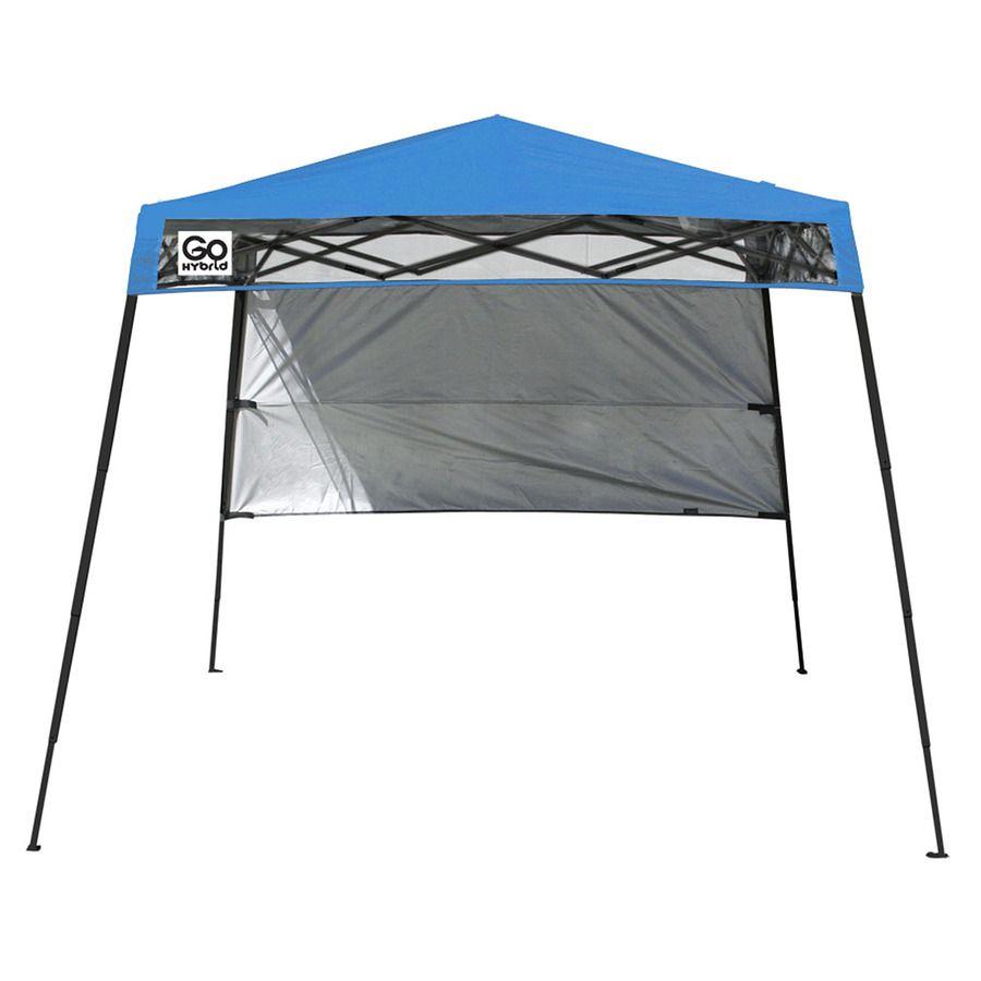 Quik Shade 7 5 Pies De Ancho X 7 5 Pies De Altura L Square Blue Steel Pop Up Canopy Canopy Outdoor Canopy Tent Backyard Canopy
