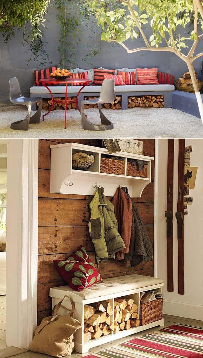 Creative Photo of Firewood Rack & Best Storage Ideas. If ...