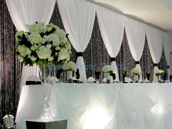 Deluxe 3 Panel Standard Backdrop 8 20ft High Wedding Reception