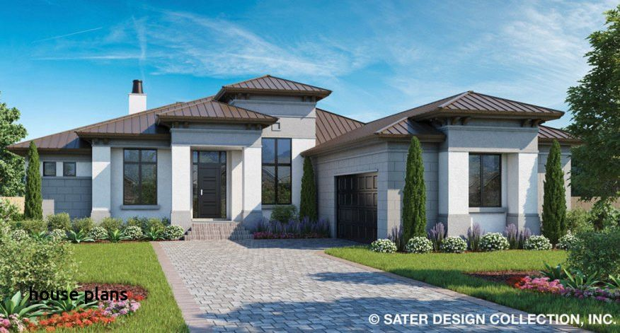 Stucco House Plans In 2020 Mediterranean Style House Plans Modern House Plans Contemporary Style Homes