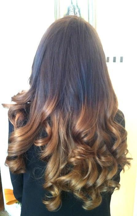 long ombre curly hair