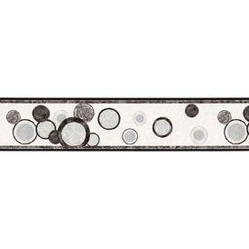 "Sunworthy 63/4"" Black And White Style Prepasted Wallpaper"