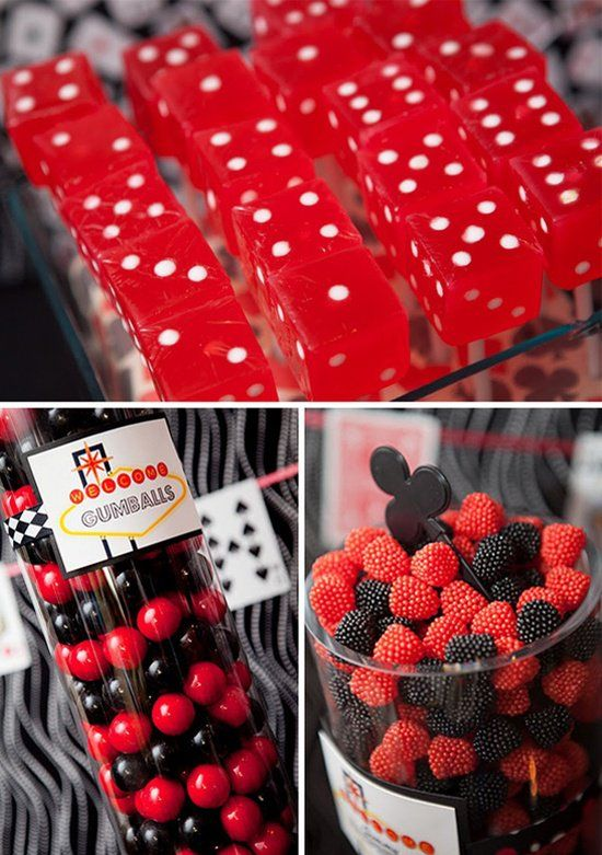 vegas theme dessert table Not a cake I know but good ideas for