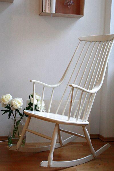Original vintage design schaukelstuhl nesto von leflair auf living pinterest - Schaukelstuhl retro ...