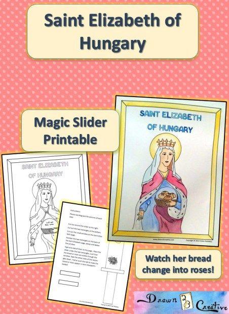 Familia Católica: Página para colorear de Santa Isabel de Hungría ...