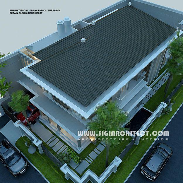 Desain Rumah 2 Lantai Modern Klasik dengan Kolam Renang ...