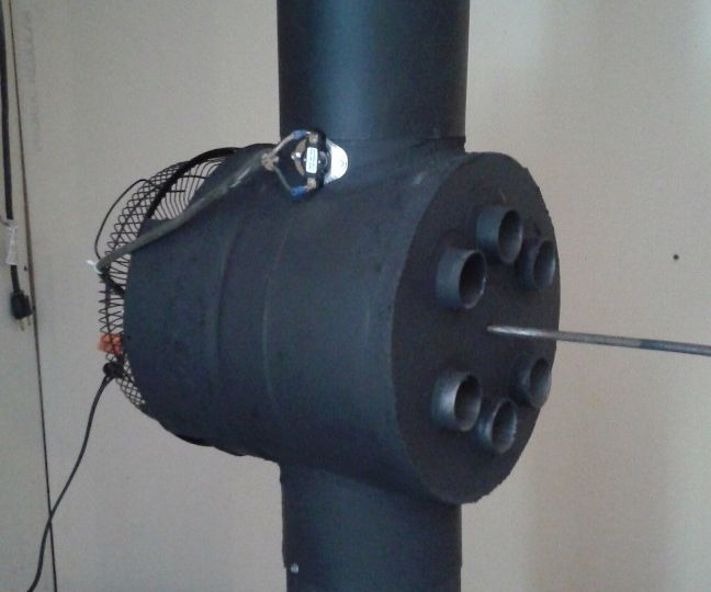 Wood Stove Heat Reclaimer Diy Just Do It Stove Diy
