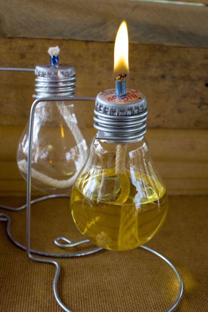 DIY: Decoração com lâmpadas | Artesanato com lampada ...