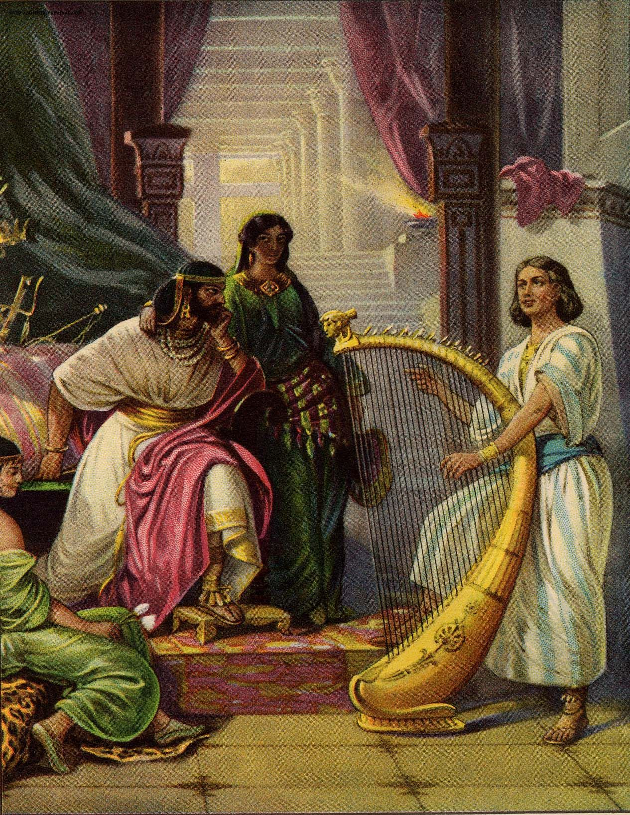 David Plays The Harp For Saul 1 Samuel 16 23 So It Came
