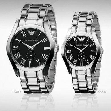 a0eb7ec877214 Emporio Armani Couple Watch AR0680 & AR0681 | Fashion Watches in ...