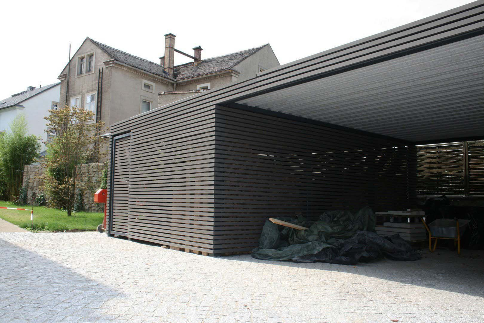 Design metall carport aus holz stahl individuell dortmund for Carport holz metall