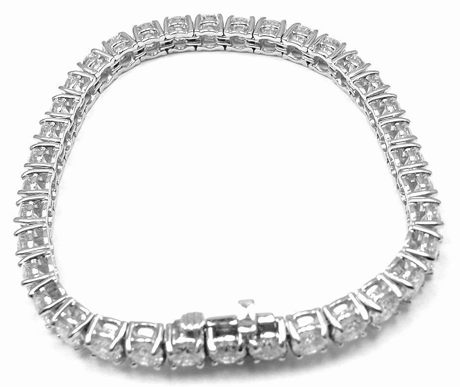 Tiffany & Co 9 23ct Diamond Platinum Tennis Bracelet