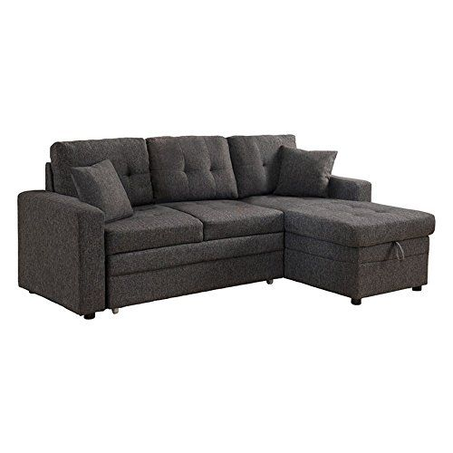 Milton Greens Stars Darwin Sectional Sofa With Storage Pull Out Bed Grey