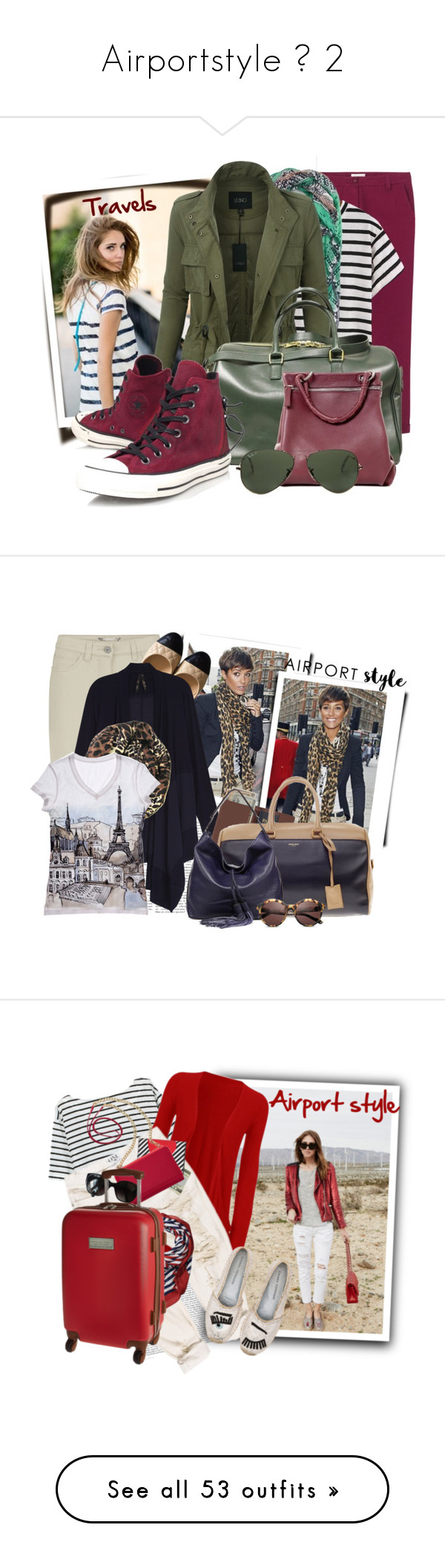 """""""Airportstyle № 2"""" by tasha1973 ❤ liked on Polyvore featuring Toast, Sole Society, LE3NO, Yves Saint Laurent, Lucque, Converse, Ray-Ban, Sandwich, Chanel and Royce Leather"""