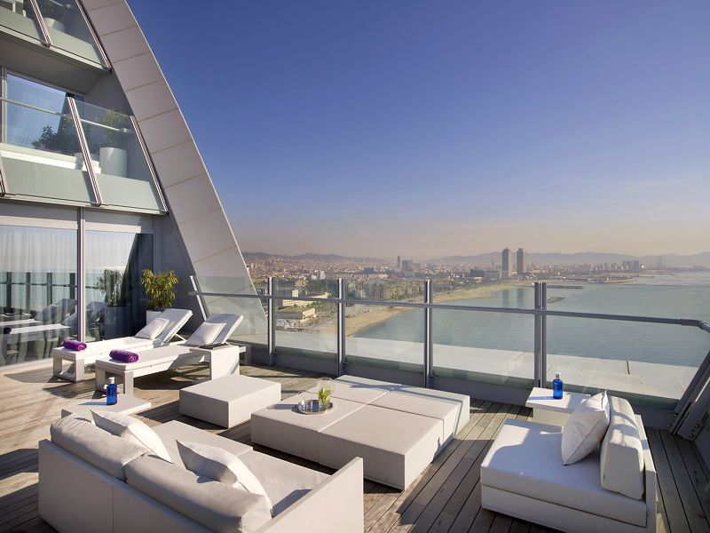 Look At This Terrace Of The W Barcelona Spectacular Suite