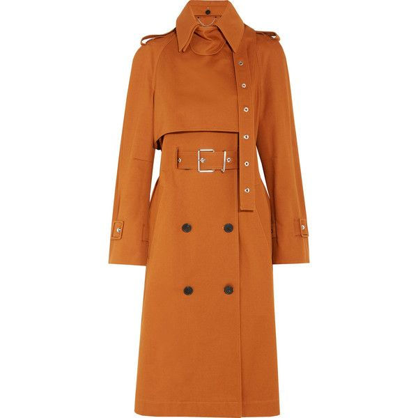 Proenza Double Cotton Twill Breasted Coat Trench Schouler vZr6qnxv
