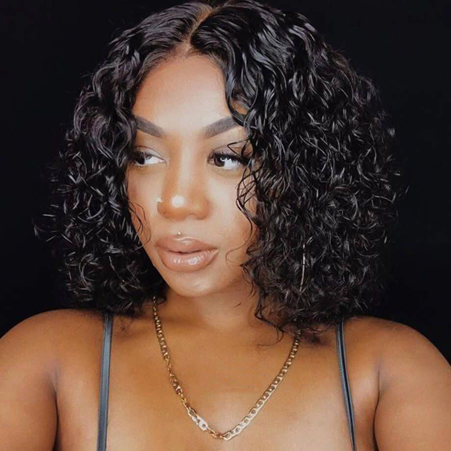 shortbob in 2020 Curly bob wigs, Short curly wigs