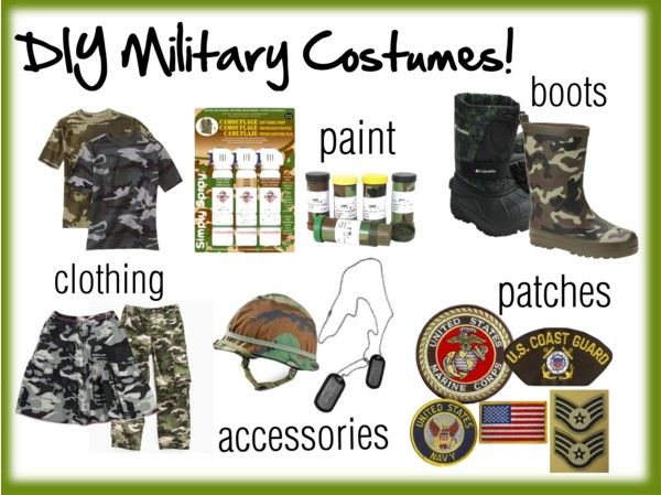 Must haves for homemade military costumes halloween must haves for homemade military costumes solutioingenieria Gallery