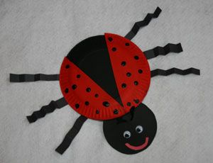 Cute craft for grouchy ladybug pattern insect unit so for Bugs arts and crafts
