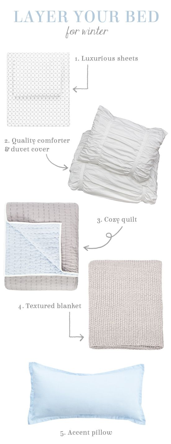 How To Layer Your Bed For Winter Bed Linens Luxury Bedding Inspiration Bed Linen Design