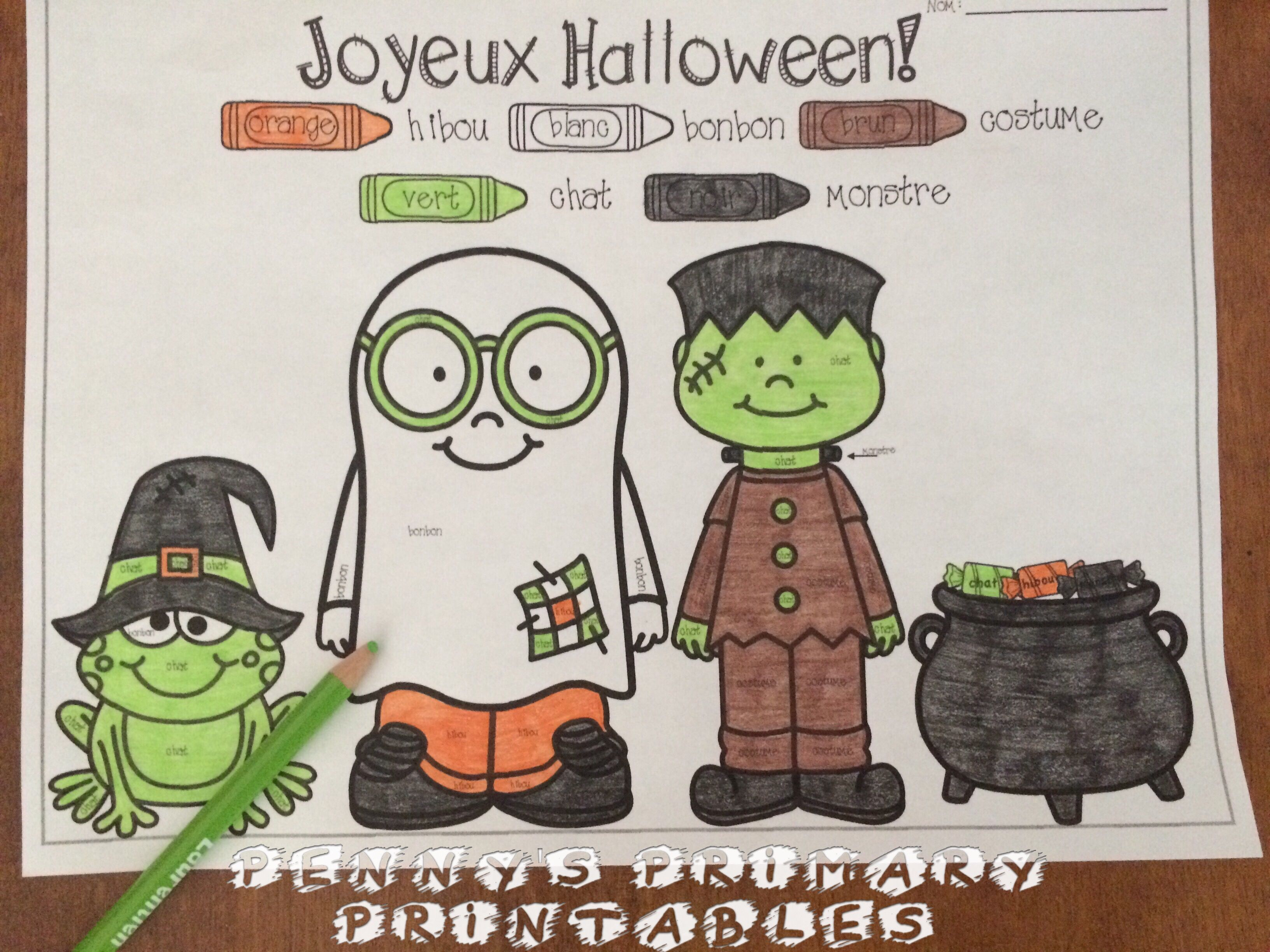 French Halloween Write The Room L Halloween