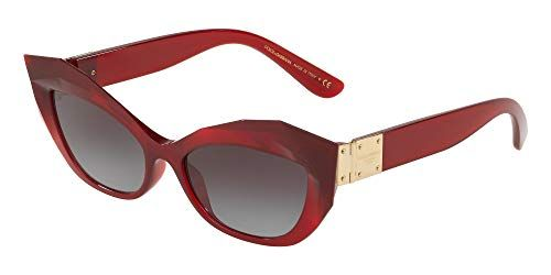 12e486b9069e Dolce & Gabbana STONES & LOGO PLAQUE DG 6123 BURGUNDY/GREY SHADED 54/17/145  women Sunglasses