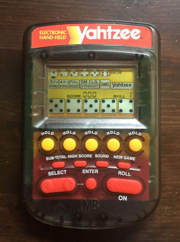 Yahtzee Handheld Digital Game NEW