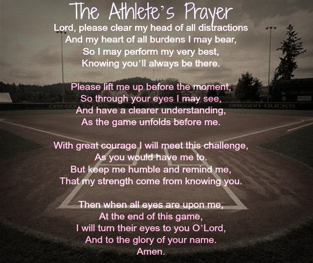 Motivational Quotes For Sports Teams: The Athlete's Prayer - Google Search