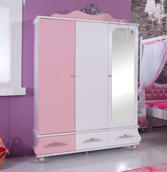 kleiderschrank anastasia rosa kinderzimmer prinzessin anastasia m dchenzimmer rosa pinterest. Black Bedroom Furniture Sets. Home Design Ideas