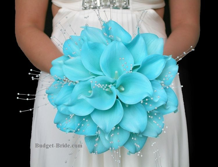 Tiffany Blue Calla Lily Wedding Flowers Blue Wedding