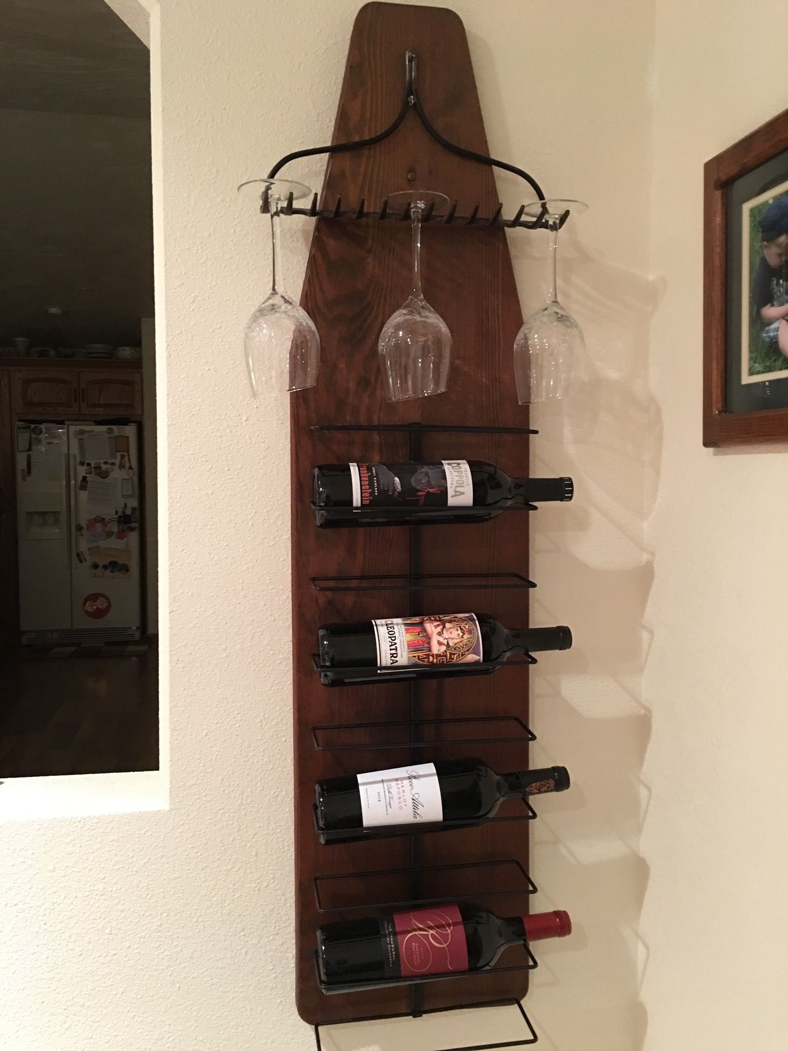 Vintage ironing board wine rack Ironing boards in 2018