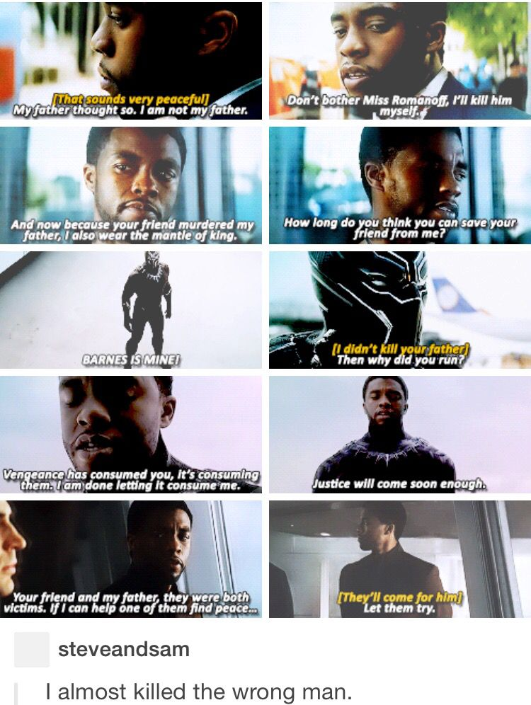 SO HAPPY I FINALLY GOT MY T'CHALLA (BLACK PANTHER) IN THE CINEMATIC UNIVERSE! Now if they could just do an X Men/Avengers crossover so he and Ororo (Storm) could get married, life would be perfect!