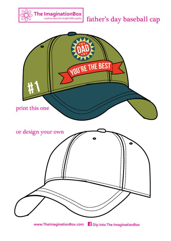 Design A Father S Day Baseball Cap Free Printable For Bunting