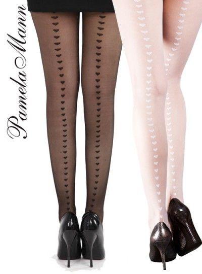 4b95641568b Pamela Mann Sheer Heart Seam Tights - tights